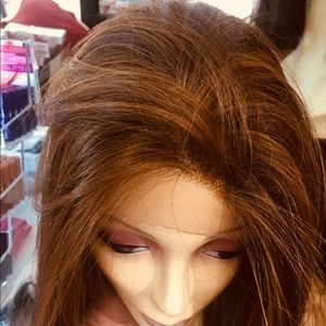 Accessories - Wig Swisslace reddish silky Lacefront freepart Wig